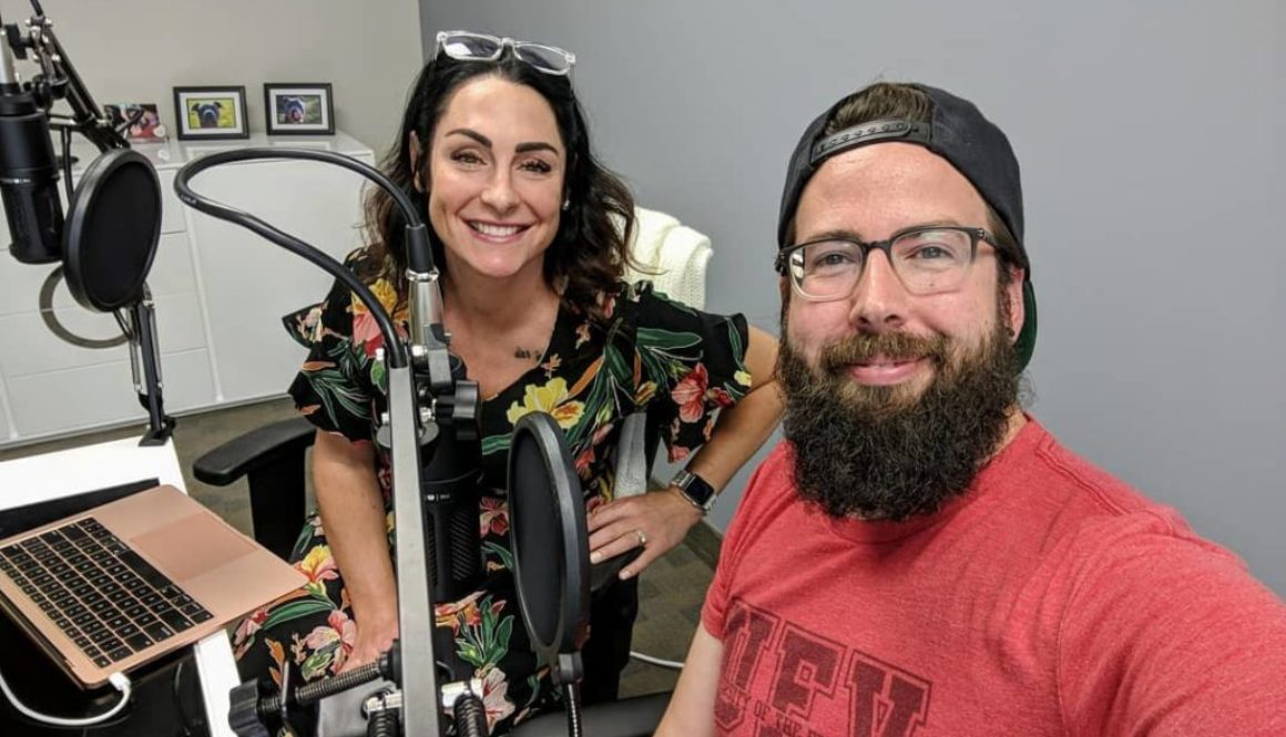 business can be better podcast hosts kelli-rae and lane in a selfie while recording a show