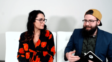 better business podcast hosts kelli rae and lane talking during the podcast